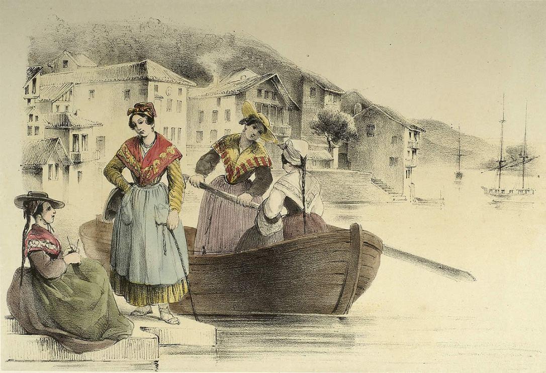 Grabado de B. Hennebutte Feillet, hacia 1850